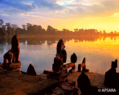 Sunset in Angkor